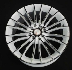 Velg Mobil Enzo White Black Ring 17
