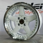 Velg Mobil Ring 15 dy wheels pcd 4×100 lebar 8 et 25 White