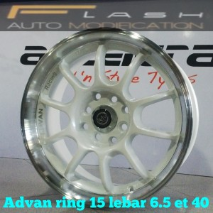 velg ring 15 advan pcd 4×100-114 lebar 6.5 et 40