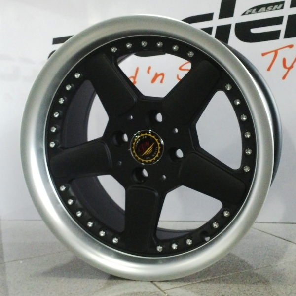 velg ring 15 dy wheels pcd 4x100 lebar 8 et 25.